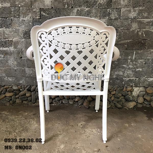 Ghế Cafe Hợp Kim Nhôm Đúc Ngoài Trời Sân Vườn Sơn Tĩnh Điện GN002 - Hình 4