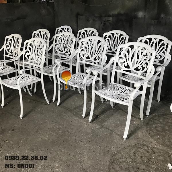 Ghế Cafe Hợp Kim Nhôm Đúc Ngoài Trời Sơn Tĩnh Điện GN001 - Hình 8