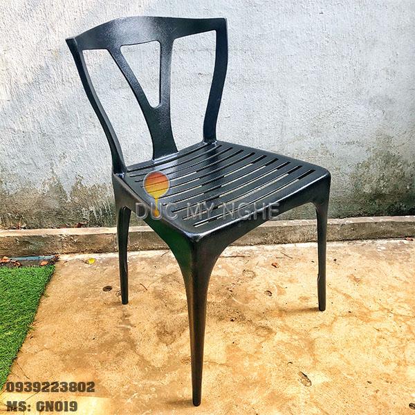 Ghế Cafe Nhôm Đúc Ngoài Trời Nhà Hàng Khách Sạn Resort GN019 - Hình 5