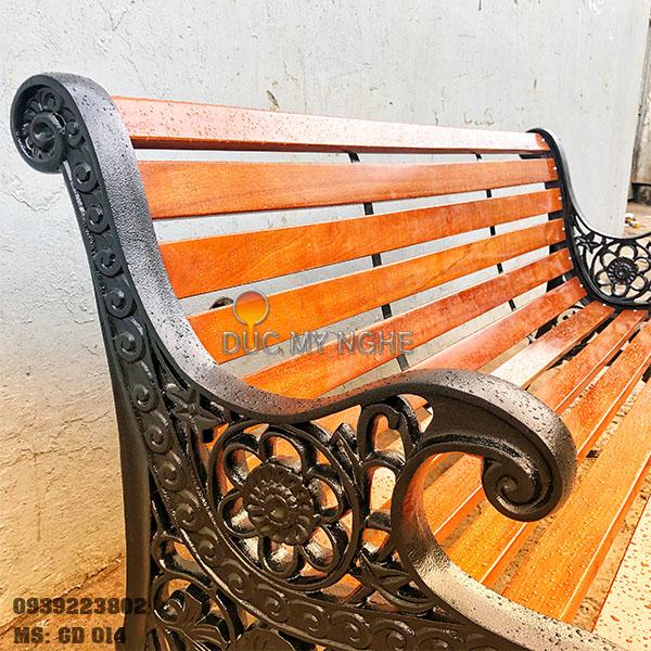 Ghế Công Viên Gang Đúc Gỗ Ngoài Trời Mẫu Mới Đẹp Nhất Ở Tphcm GD014 - Hình 3