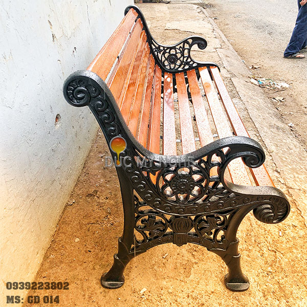 Ghế Công Viên Gang Đúc Gỗ Ngoài Trời Mẫu Mới Đẹp Nhất Ở Tphcm GD014 - Hình 8