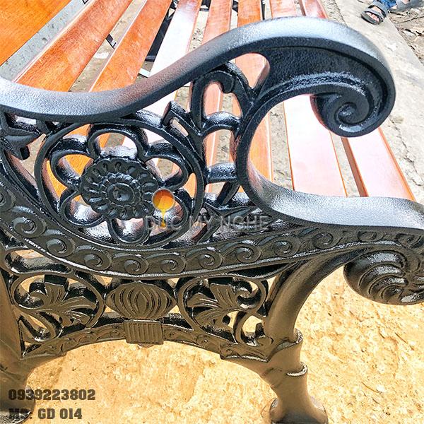 Ghế Công Viên Gang Đúc Gỗ Ngoài Trời Mẫu Mới Đẹp Nhất Ở Tphcm GD014 - Hình 11