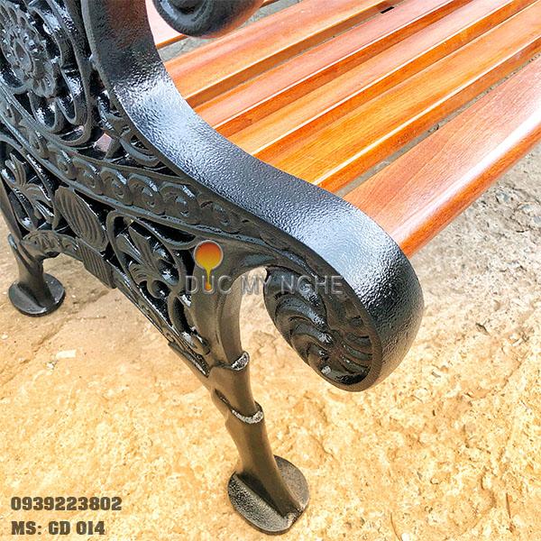 Ghế Công Viên Gang Đúc Gỗ Ngoài Trời Mẫu Mới Đẹp Nhất Ở Tphcm GD014 - Hình 13