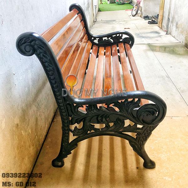 Ghế Công Viên Gang Đúc Gỗ Ngoài Trời Sân Vườn Biệt Thự Đẹp Nhất Tphcm GD002 - Hình 2