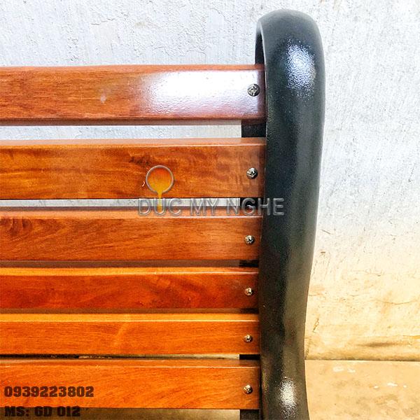 Ghế Công Viên Gang Đúc Gỗ Ngoài Trời Sân Vườn Biệt Thự Đẹp Nhất Tphcm GD002 - Hình 8