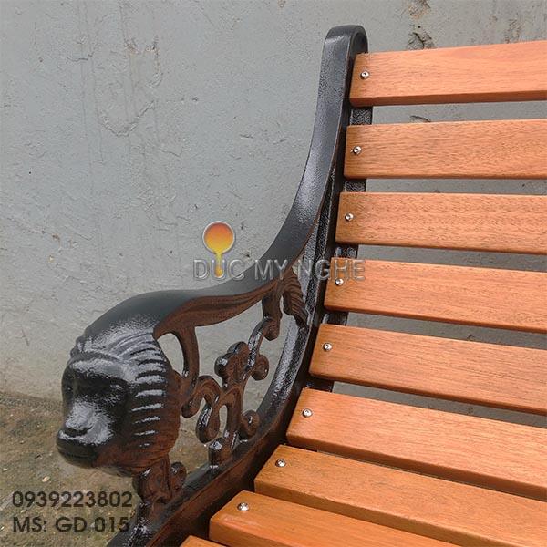 Ghế Công Viên Gang Đúc Ngoài Trời Thanh Ngồi Gỗ Giá Xưởng Sx GD015 - Hình 11