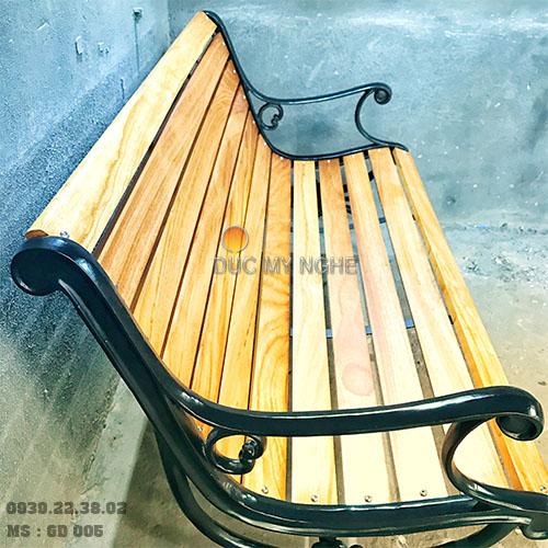 Ghế Công Viên Gang Đúc Thanh Ngồi Gỗ Căm Xe Ngoài Trời Sân Vườn Giá Rẻ Nhất Tphcm GD005 - Hình 6