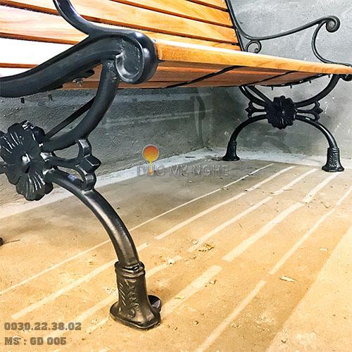 Ghế Công Viên Gang Đúc Thanh Ngồi Gỗ Căm Xe Ngoài Trời Sân Vườn Giá Rẻ Nhất Tphcm GD005 - Hình 8