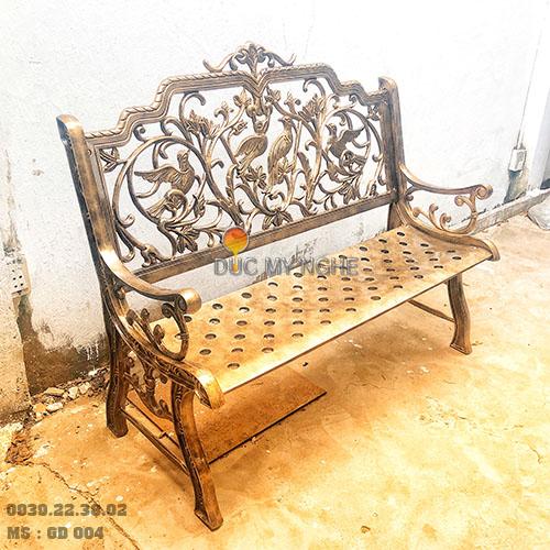 Ghế Băng Công Viên Nhôm Đúc Ngoài Trời Sân Vườn Đẹp Uy Tín Nhất Tphcm GD004 - Hình 1