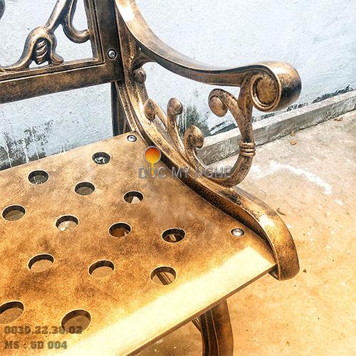 Ghế Băng Công Viên Nhôm Đúc Ngoài Trời Sân Vườn Đẹp Uy Tín Nhất Tphcm GD004 - Hình 2