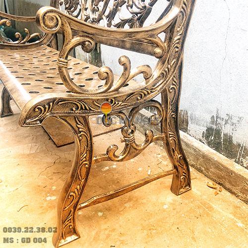 Ghế Băng Công Viên Nhôm Đúc Ngoài Trời Sân Vườn Đẹp Uy Tín Nhất Tphcm GD004 - Hình 3