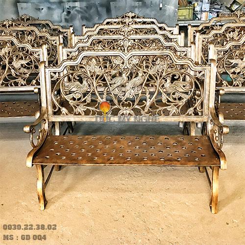 Ghế Băng Công Viên Nhôm Đúc Ngoài Trời Sân Vườn Đẹp Uy Tín Nhất Tphcm GD004 - Hình 13