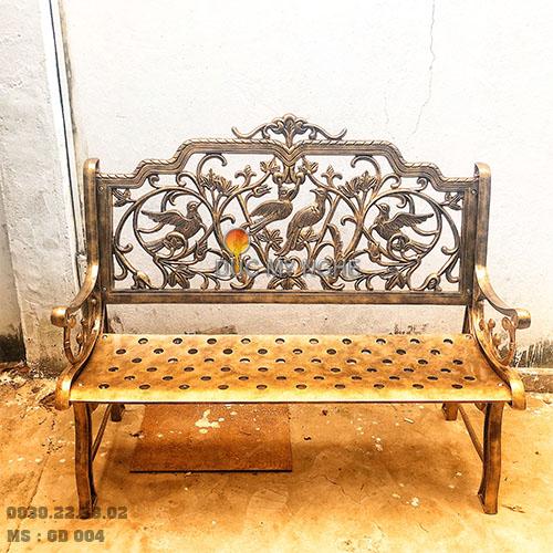 Ghế Băng Công Viên Nhôm Đúc Ngoài Trời Sân Vườn Đẹp Uy Tín Nhất Tphcm GD004 - Hình 4