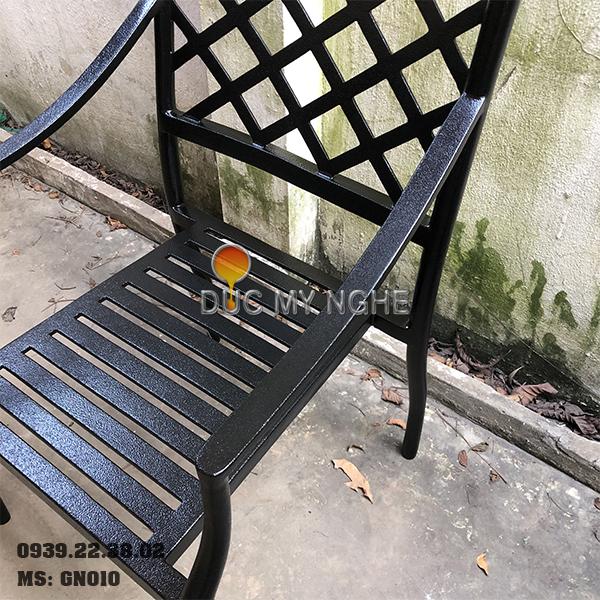 Ghế Nhà Hàng Hợp Kim Nhôm Đúc Ngoài Trời - Khách Sạn GN010 - Hình 9