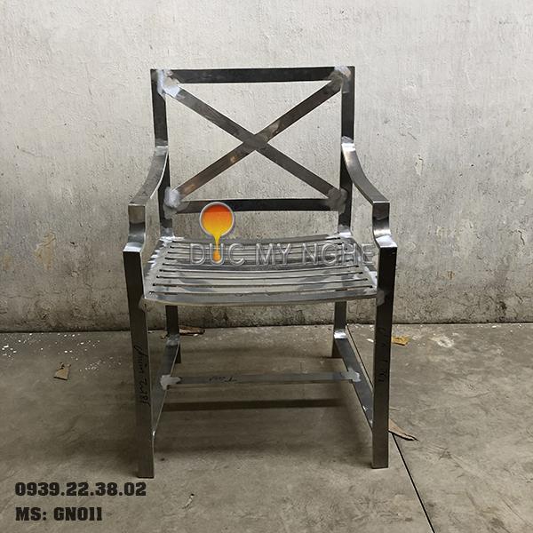 Ghế Nhà Hàng Nhôm Đúc Ngoài Trời Sơn Tĩnh Điện Nệm Ngồi GN011 - Hình 3