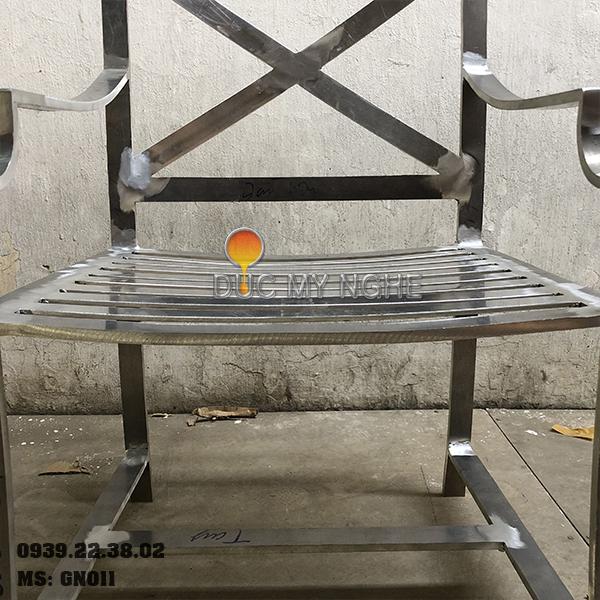 Ghế Nhà Hàng Nhôm Đúc Ngoài Trời Sơn Tĩnh Điện Nệm Ngồi GN011 - Hình 8