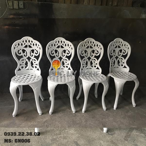 Ghế Nhôm Đúc Cao Cấp Sơn Màu Đồng Giả Cổ Gia Đình Nhà Hàng GN006 - Hình 14