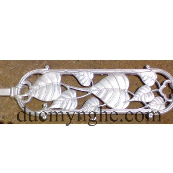hoa văn trụ lan can đúc nhôm hình chiếc lá đúc theo thiết kế DN003 - Hình 1