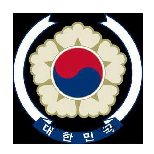 Logo đại sứ quán hàn quốc bằng inox 304 kết hợp đồng thau sơn màu BHLG002 - Hình 4