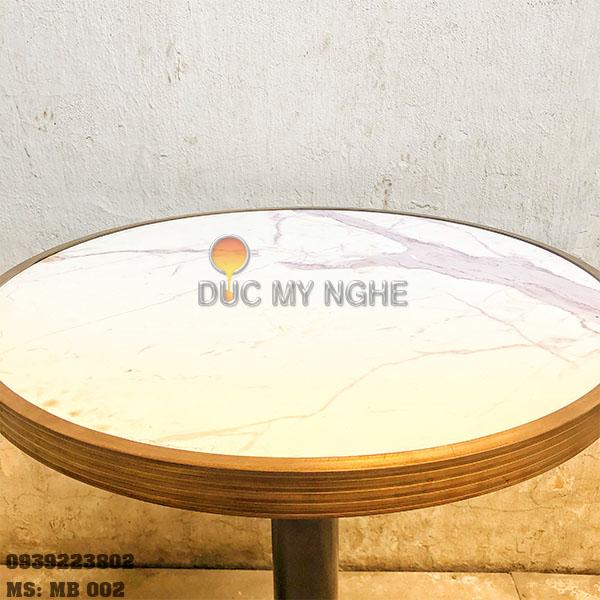Mặt Bàn Đá Marble Cafe Viền Đồng Liền Khối Bảo Vệ Đá MB002 - Hình 4