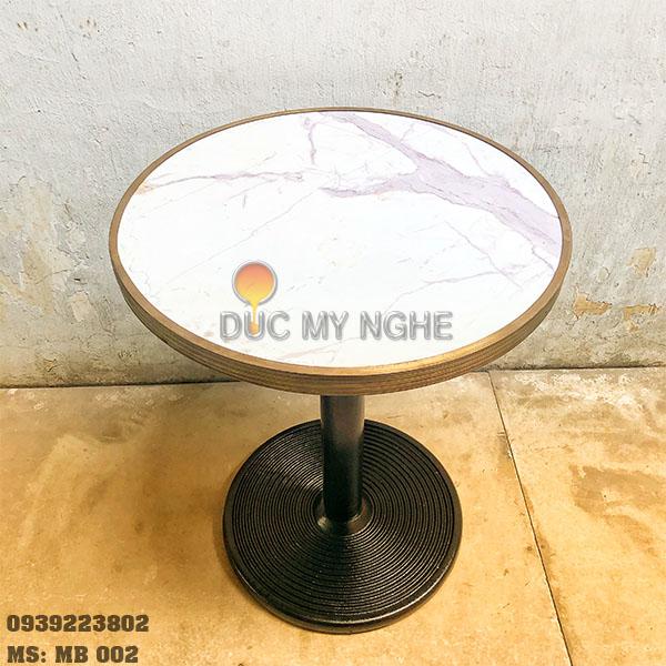 Mặt Bàn Đá Marble Cafe Viền Đồng Liền Khối Bảo Vệ Đá MB002 - Hình 2