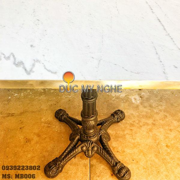 Mặt Bàn Đá Marble Cafe Viền Đồng Sang Trọng Cao Cấp MB006 - Hình 12