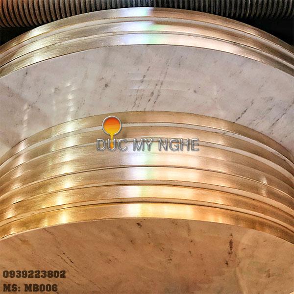 Mặt Bàn Đá Marble Cafe Viền Đồng Sang Trọng Cao Cấp MB006 - Hình 16