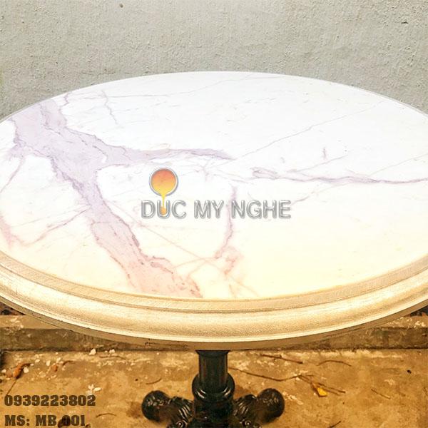 Mặt Bàn Đá Marble Cafe Viền Khung Nhôm Đúc Bảo Vệ MB001 - Hình 7
