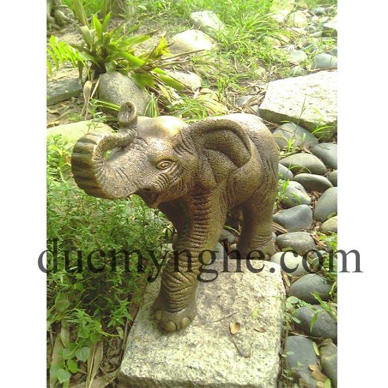 Tượng con voi đúc đồng giả cổ sản xuất theo đơn thiết kế đặt hàng TD002 - Hình 1