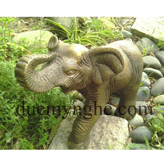 Tượng con voi đúc đồng giả cổ sản xuất theo đơn thiết kế đặt hàng TD002 - Hình 2