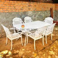 Bàn Ghế Ăn Ngoài Trời Nhôm Đúc - Biệt Thự Nhà Hàng BGN016