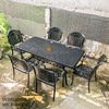 Bàn Ghế Ăn Ngoài Trời Nhôm Đúc - Biệt Thự Nhà Hàng BGN016 - Hình 15