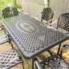 Bàn Ghế Ăn Ngoài Trời Nhôm Đúc - Biệt Thự Nhà Hàng BGN016 - Hình 18