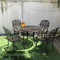 Bàn Ghế Cafe Ngoài Trời Nhôm Đúc - Biệt Thự Nhà Hàng BGN006