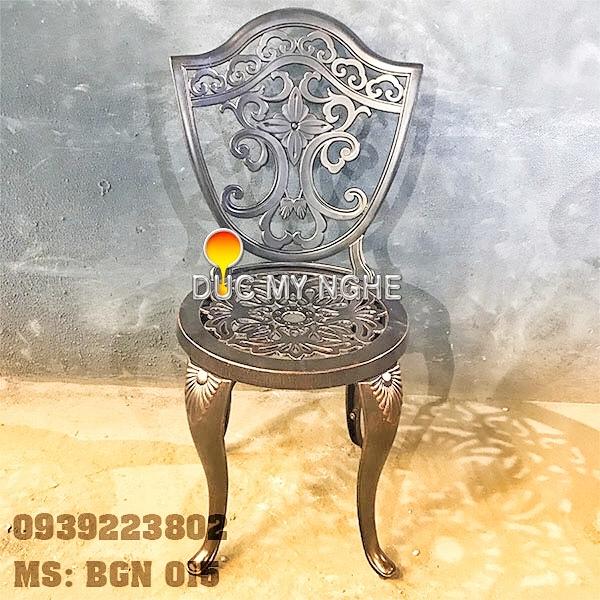 Bàn Ghế Hợp Kim Nhôm Đúc Ngoài Trời Đẹp Giá Rẻ - Khách Sạn Gia Đình BGN015