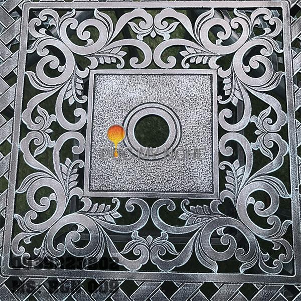 Bàn Ghế Hợp Kim Nhôm Đúc Sân Vườn Ngoài Trời - Nhà Hàng Gia Đình BGN009