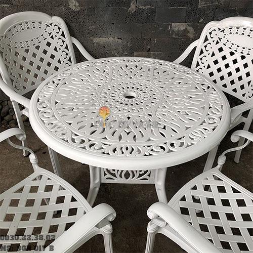 Bàn Ghế Nhôm Đúc Sân Vườn Ngoài Trời - Cafe Nhà Hàng Khách Sạn BGN017B