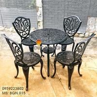 Bàn Ghế Nhôm Đúc Ngoài Trời Giá Rẻ - Cafe Gia Đình BGN015