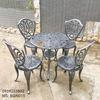 Bàn Ghế Nhôm Đúc Ngoài Trời Giá Rẻ - Cafe Gia Đình BGN015 - Hình 12