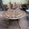 Bàn Ghế Nhôm Đúc Ngoài Trời Sân Vườn Biệt Thự Cao Cấp BGN 018 - Hình 2