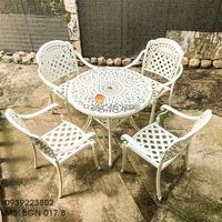 Bàn Ghế Nhôm Đúc Sân Vườn Ngoài Trời - Cafe Nhà Hàng BGN017B