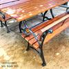 Bàn Ghế Sân Vườn Gang Đúc Ngoài Trời Gỗ Gõ Đỏ Đẹp Cao Cấp BGG 003 - Hình 4