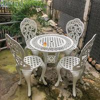 Bàn Ghế Sân Vườn Nhôm Đúc Cổ Điển - Khách Sạn Biệt Thự BGN003