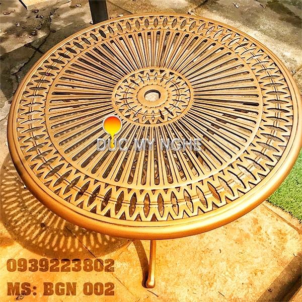 Bộ Bàn Ghế Sân Vườn Hợp Kim Nhôm Đúc - NHà Hàng Khách Sạn Gia Đình BGN002