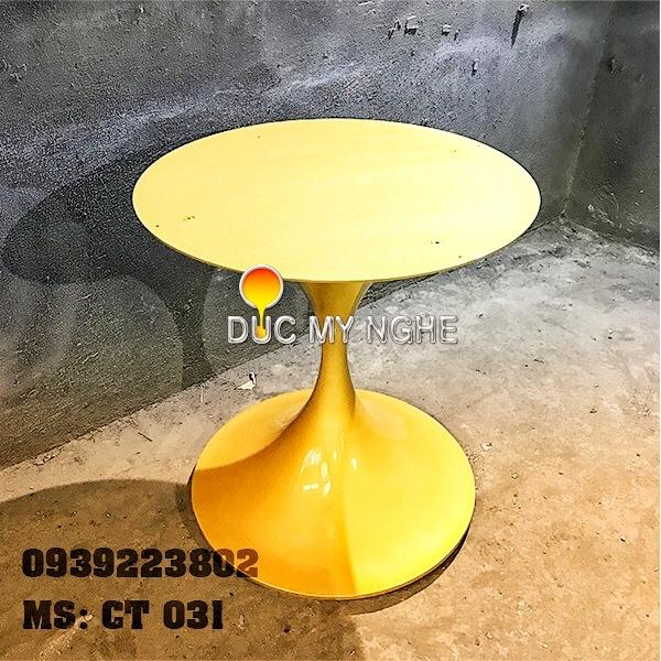 Chân Bàn Ăn Nhà Hàng Kiểu Hoa Tulip Đế Tròn Gang Đúc CT031