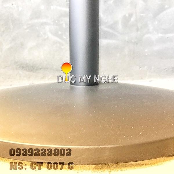 Chân Bàn Buffet Nhà Hàng Sắt Ống Đế Tròn 550mm Gang Đúc CT007C