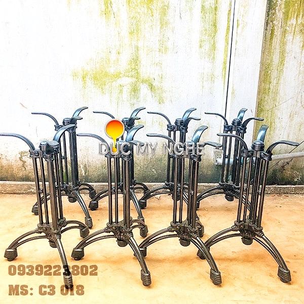 Chân Bàn Cafe 3 Chân Gang Đúc Giá Rẻ - Trà Sữa Quán Ăn C3018