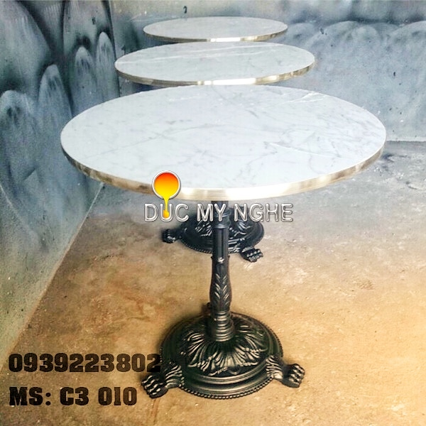 Chân Bàn Cafe 3 Chân Sư Tử Cổ Điển Đúc Gang - Nhà Hàng C3010