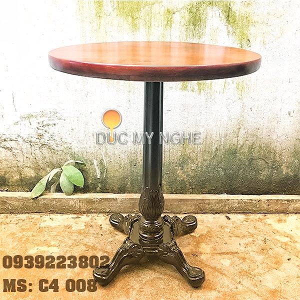 Chân Bàn Cafe 4 Chân Hoa Văn Cổ Điển Gang Đúc C4008