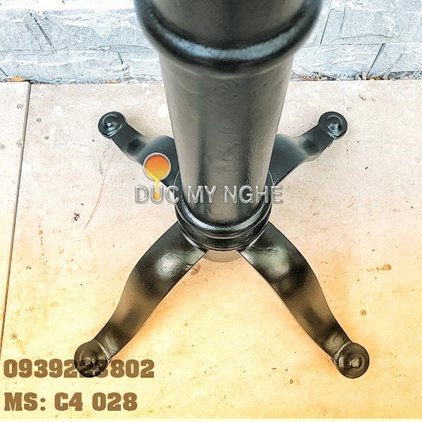 Chân bàn cafe 4 chân kiểu dáng cổ điển Gang đúc C4028